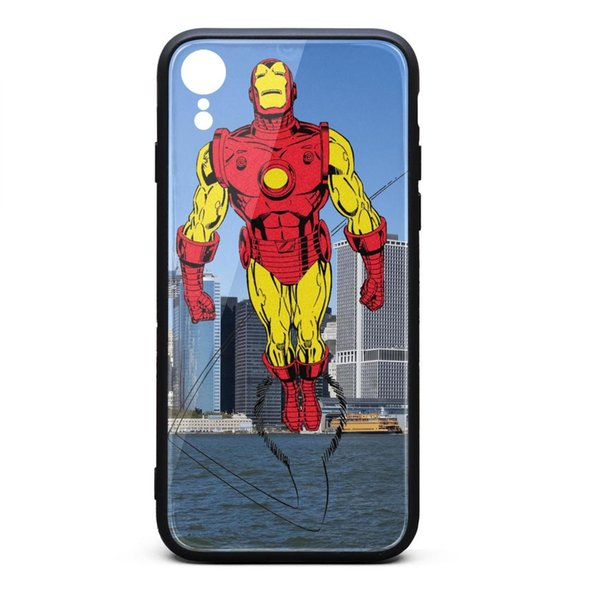 Iron Man marve comics Illustrations iphone XR cases best cheap case hard apple case hippie classic scratch-resistant case