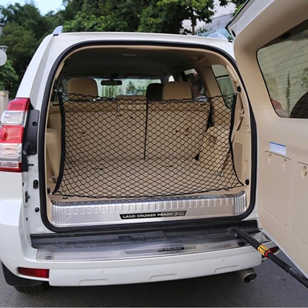 4 Haken Lagerung Shop Auto-Kofferraum Cargo-Organizer passen Trunk Mesh-Cargo-Speicher-Organisator Auto Van SUV Zurück Net