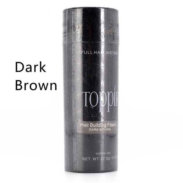 best selling Cosmetic 27.5g ToppikHair Fiber Keratin Powder Spray Thinning Hair Concealer 9colors