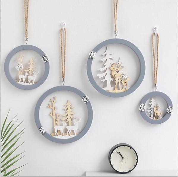 Ornements en bois de wapiti boreal europe style tenture murale ornements créatif salon chambre tenture décoration