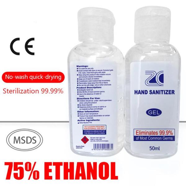 best selling Factory Price 50ml 250ml 500ml Portable Hand Sanitiser Gel Kills 99.9% Bacteria Hand Sanitizer Portable Disinfection Spray Liquid Hand Soap
