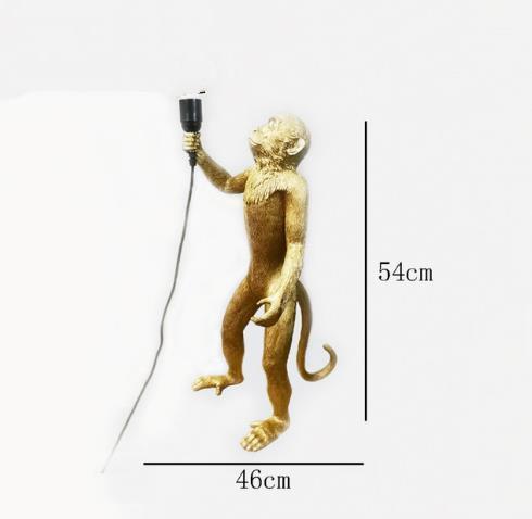 Lampada da terra oro scimmia
