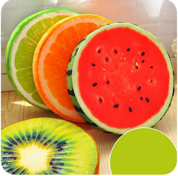 The latest style large creative 3d fruit dragon fruit cushion sofa chair cushion car seat student thickening round