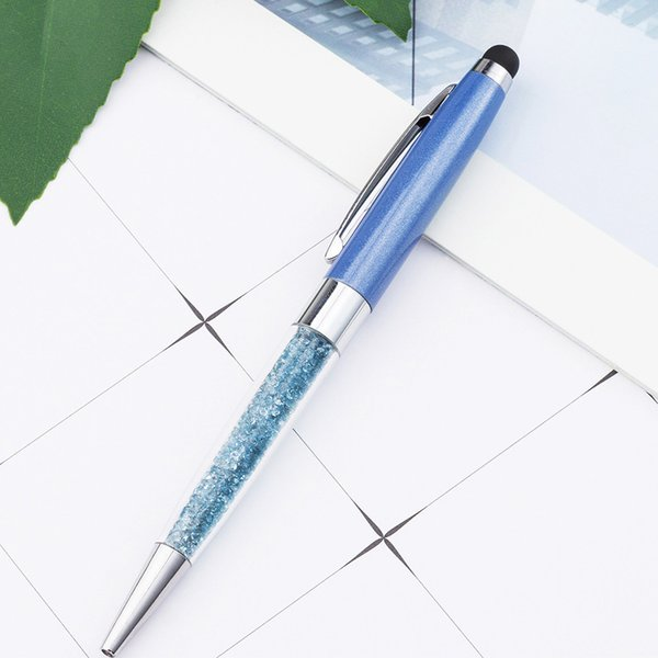 Firma Escritura Brillo Regalo de los niños Bolígrafo Papelería Oficina Moda Metal Cristal Lujo Bling Suministros Escuela