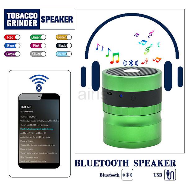 Yeni Bluetooth taşlama makinesi çapı 62mm taşlama makinesi alüminyum dört katmanlı taşlama makinesi Bluetooth Değirmeni