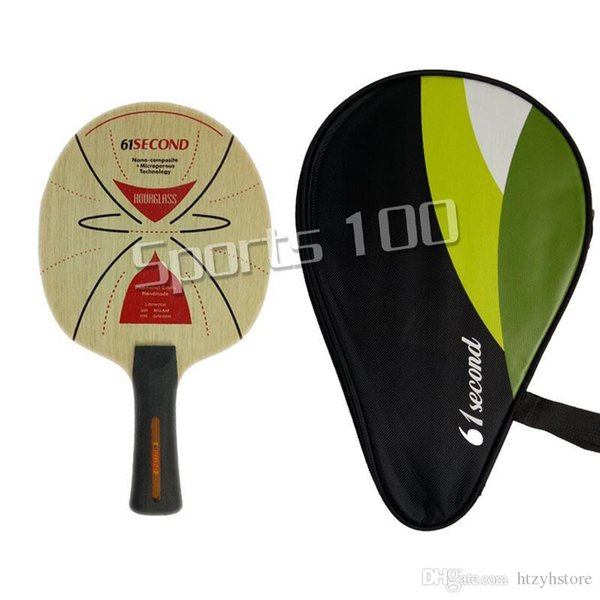 Wholesale- 61second HOURGLASS Table Tennis Blade for Table Tennis Racket Paddle Racquet Sports with a free full case