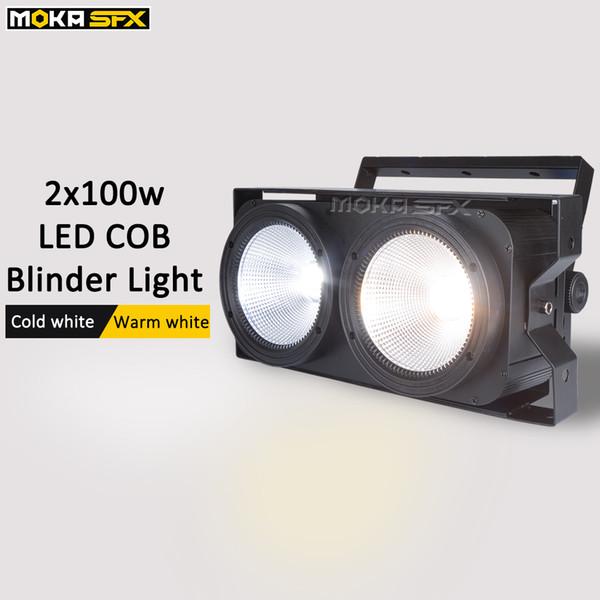Hot 2*100w LED COB audience blinder lights Cold white/Warm white 2in1 COB Leds Optional 8 channels DMX control blinder stage lights