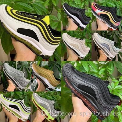 Nike air max 97 Vente chaude Nouveau Hommes 90 Chaussures airs coussin en plastique bon marché Formation 90Shoes Mode gros Outdoor Chaussures de sport US 36-45