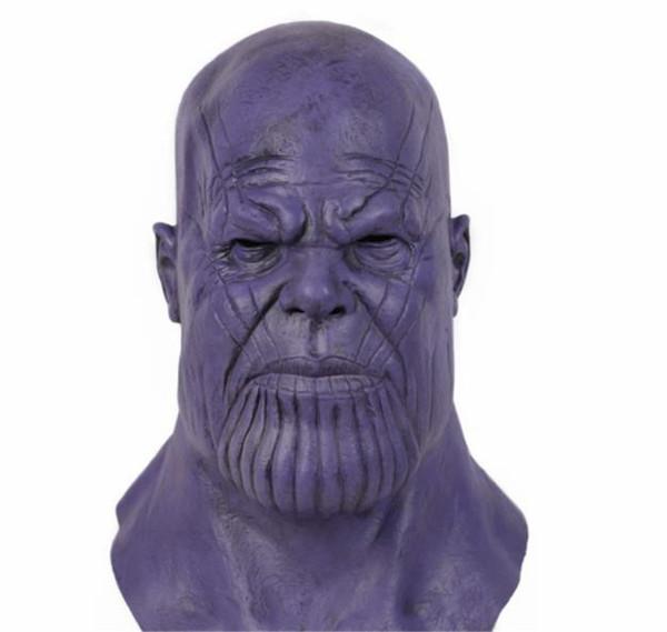 Thanos Cosplay Acessórios Vingadores Máscara De Látex Halloween Festa de Dança Adereços Coleção Coleta