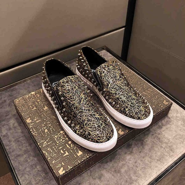 Designer Shoes Fashion Rivet Casual Shoes New Stylish Leather Party Boots Brand Shoes Dancing Boots Size 38-44 Luxury Hot Sale