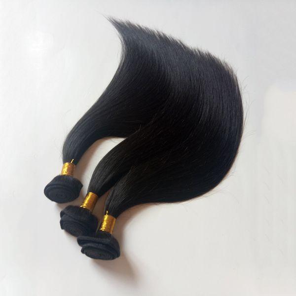 Liefern Sie billigen Preis brasilianische Jungfrau seidige gerade Menschenhaar-Gewebe 8-28inch natürliche Farbe unverarbeitetes malaysisches remy Haareinschlagfaden-Verlängerungen