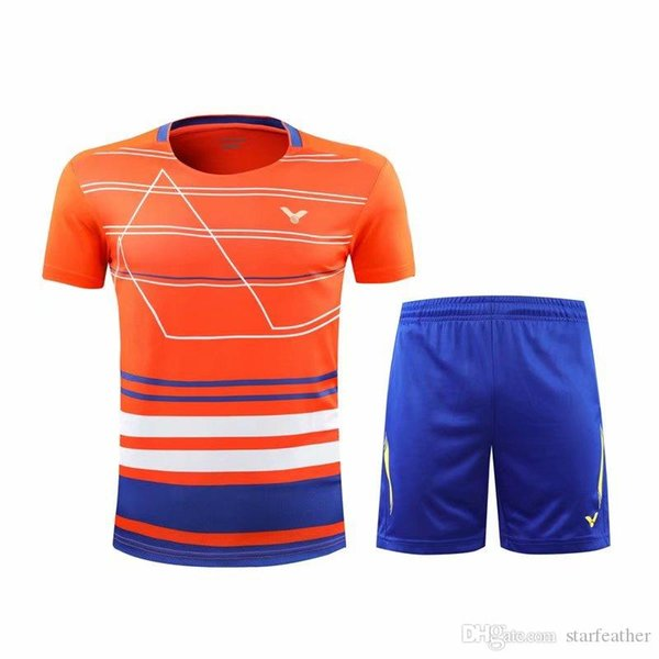 Free shipping 2018 Victor new sportswear, tennis clothes, badminton T-Shirts+ shorts , men's women's table tennis clothes