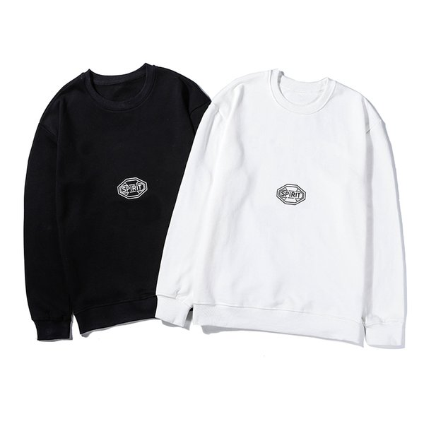 Sweatshirt Back White Pure Color Spirit Printed M-2XL Designer Brand Mens Woemens Long Sleeve Blouse Sweatshirts High Quality LSY98283