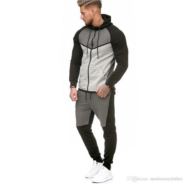 designer jogging suits men 2018 Luxury Tracksuits Fleece Sweatshirts Hoodies Pants 2pcs Clothing Sets Sports Sweatsuits