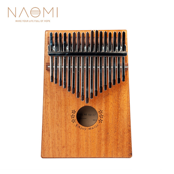 top popular NAOMI 17 Keys Kalimba Thumb Piano Thumb Finger Piano 17 Keys Sapele Wood Musical Instrument New 2021