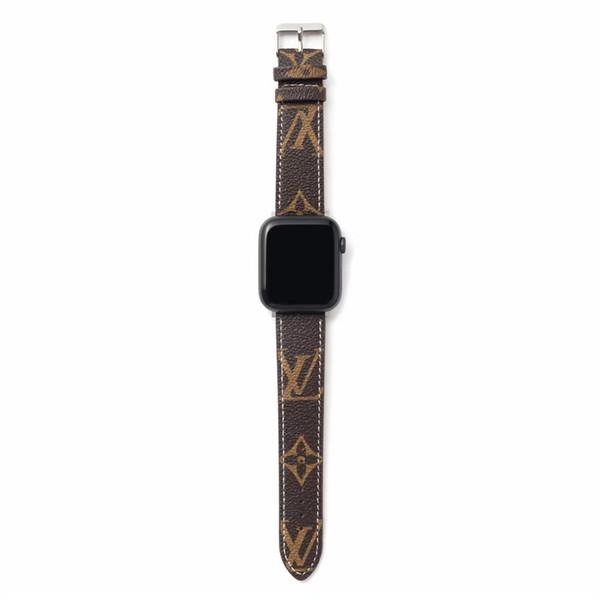 Ремешок для часов ремешок для яблока 42мм 44мм искусственная кожа умные часы замена с разъемом адаптера для яблока серии 3 2 1
