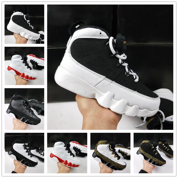 nike air jordan aj9 Nuevo 9 IX Bred LA Zapatillas de baloncesto para niños Space Jam Barons GS Negro Oero Sports Sneakers para niños niñas 9s zapatos tamaño 28-35
