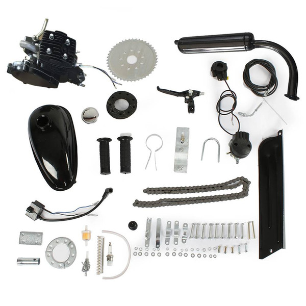 50cc Petrol Gas Engine Kit Black Color for Outdoors Cycling Electric Bicycle Motor Single Cylinder Part
