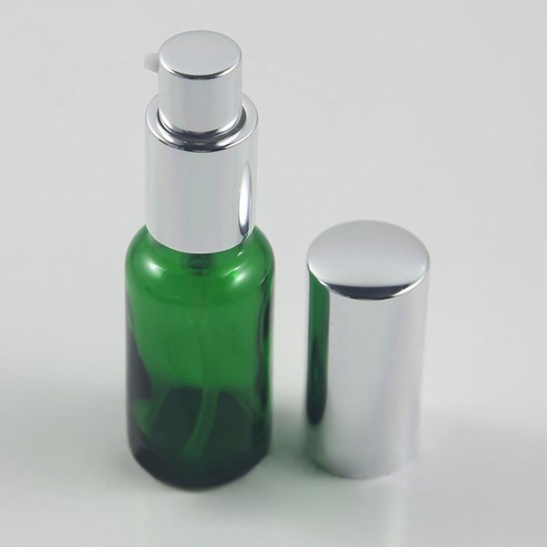 green lotion pump