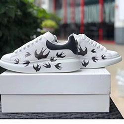 2020 Luxury Mens Women Fashion White Leather Platform Shoes Top Quality designer shoes Genuine Leather Sneaker Flat Casual Shoes H01093