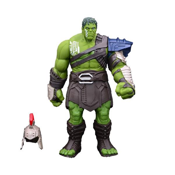 35 cm Büyük Boy Thor 3 Ragnarok Eller Hareketli Savaş Çekiç Savaş Balta Gladyatör Hulk BJD Action Figure Model Oyuncak