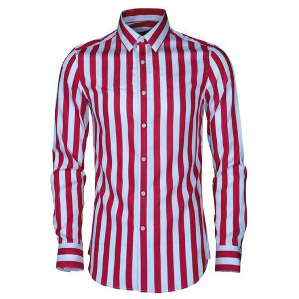 Luxury Silk Cotton Men Shirt Fashion Trend Wide Stripe Mens Shirts Casual Slim Fit Plus Size 4xl Long Sleeve Mens Dress Shirt