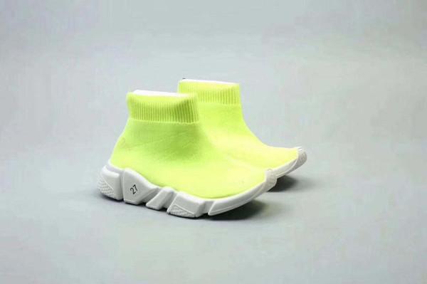 2018 Botines de moda para niños Zapatillas de deporte Speed-Stretch Mesh High Top Trainer Zapatillas de deporte Speed Knit Calcetines hasta la mitad