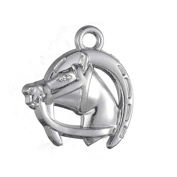 Myshap20Pcs Zinc Alloy Different Horse Animal Charms For Jewelry Making Charm Bracelet DIY Accessories Necklace Fine Key Chain Handmade Gift