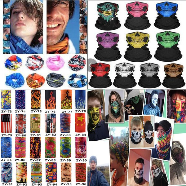 best selling multiple styles Printed Headband Bandana Scarf Multifunctional Seamless Face Mask Tube Ring Scarf Men Women DA402