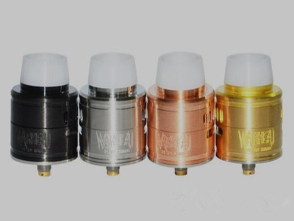 30mm rda warhead RDA atomizer clone Adjustable Dual Airflow delrin drip tip bottom deeder pin BF black copper brass color