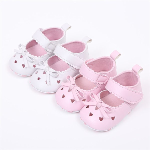 FashionNewborn Infant Baby Girls Crib Shoes Soft Sole Anti-slip Sneakers Bowknot Shoes NDA84L16