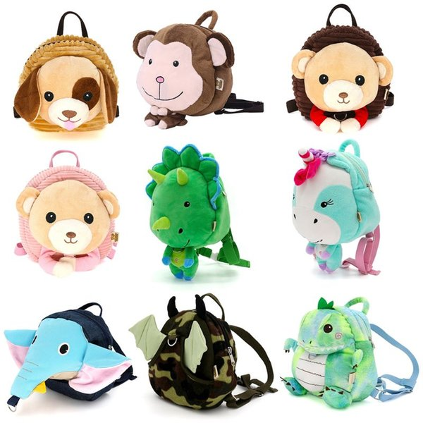 New Kids Baby Safety Harness Backpack Leash Child Toddler Anti-lost Cartoon Animal Bag 20 x 9 x 23cm