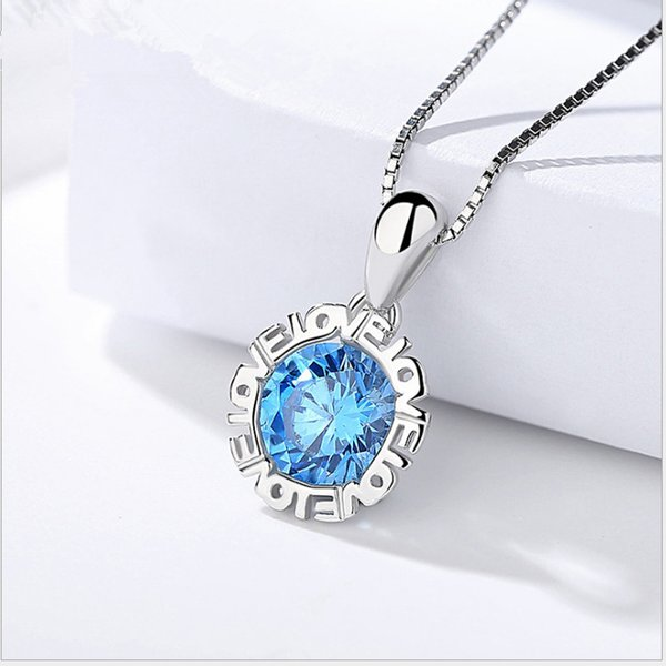 A424 blue crystal only pendants