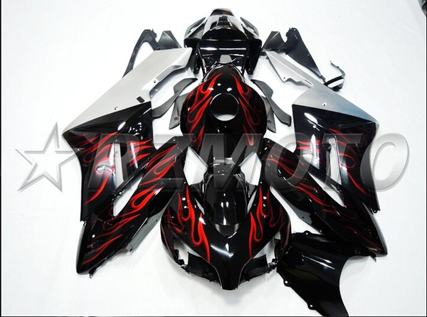 New Injection Mold Motorcycle ABS Full Fairings kit Fit for HONDA CBR1000RR 2004 2005 04 05 1000RR CBR1000 +tank cover cool red flame