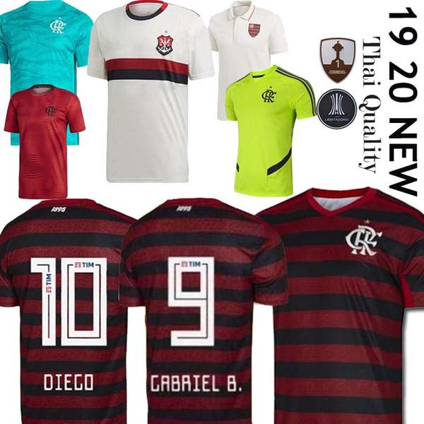 19 20 Flamengo Trikot 2019 2020 Flämisch GUERRERO DIEGO VINICIUS JR Trikots Flamengo GABRIEL B Trikot