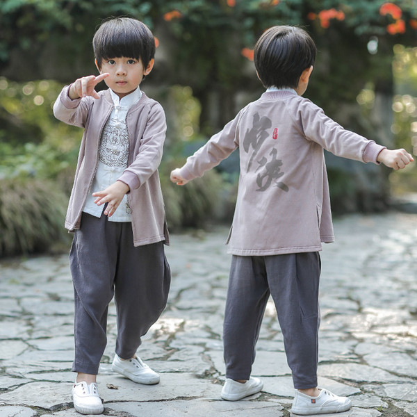 Chinese National Hanfu Show Trajes de Dança Palco Desgaste Dinastia Tang Traje China Antiga Hanfu Meninos Roupas DQS1430