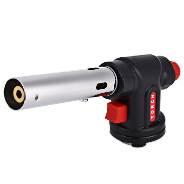 Electronic Ignition Flame Thrower Butane Gas Burners Gun Maker Torch Lighter fire starter Outdoor Camping Picnic BBQ Welding tool