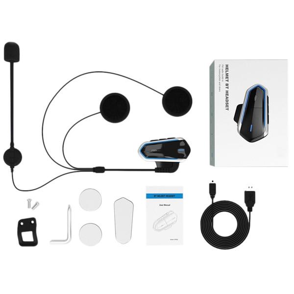 Neu-Neuer Motorradhelm Drahtloses Bluetooth Headset Walkie Talkie Bt Mp3 Lautsprecher Communicator Headset Mit Fm Auto