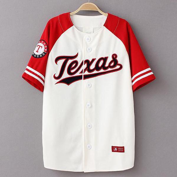 Moda-Verão Hip Hop Moda Baseball jerseys T shirt estilo Coreano Solto Unisex patchwork KANYE WEST casual longo tee de manga curta