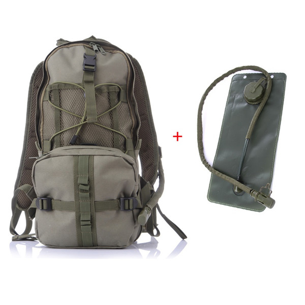 top popular 2.5 L Functional Tactical Hiking Camping Hydration Backpack Hydration Tactical Water Bag With Cover Bag 2019 2019