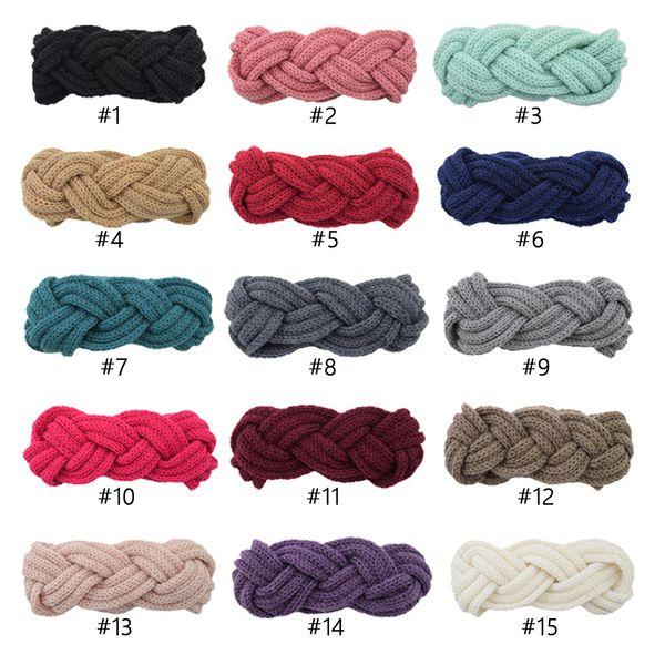 Beaded Knitted Womens Headband Crochet Knit Headwrap Girl Winter fashion