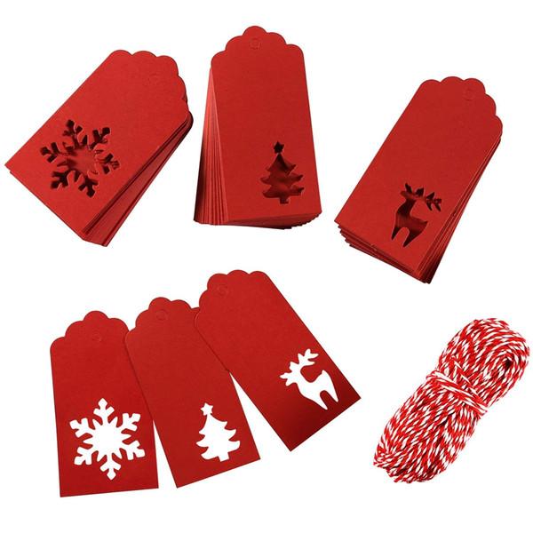 Christmas Labels.Paper Tags Kraft Christmas Tags Hang Labels Christmas Tree Snowflake Reindeer Design For Christmas Gift Favor Diy Arts And Crafts Thank You Gift Wrap