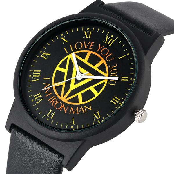 Correa de cuero negro de alta calidad con hebilla elegante Reloj de pulsera elegante para hombres Reloj analógico de cuarzo para hombres