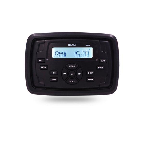 Lettore MP3 impermeabile Piazza ricevitore audio Marine barche Audio Radio Moto HASDA USB RV Bluetooth Car Sound System AM FM
