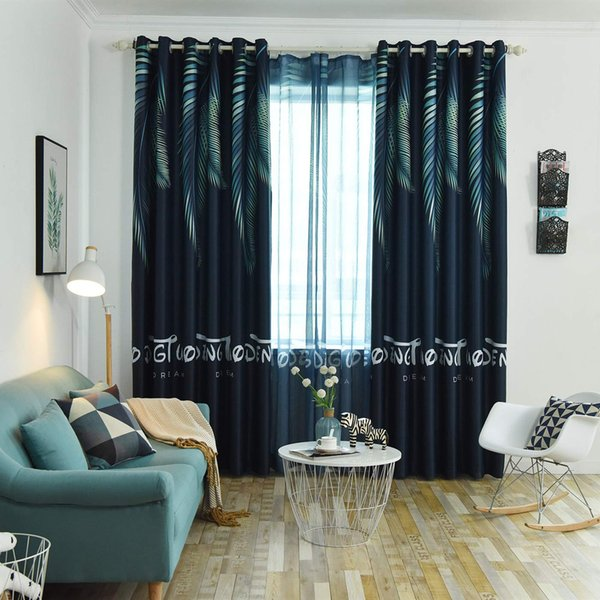 2019 Jarl Home Darkening Window Curtain Panels For Living Room, Tropical  Printing Curtains With Grommets For Kids Bedroom From Jarlhome, $27.68 | ...