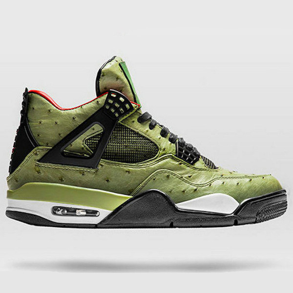 4 Travis Scott Cactus Jack The Shoe Surgeon Customs Men Basketball Shoes Desinger 4s Chaussures De Basket Ball Sports Trainer With Box