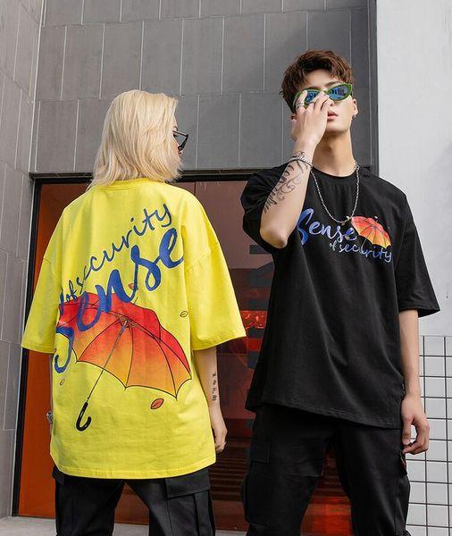 Brand Mens Umbrella Printed Cotton T Shirts Designer Short Sleeve Oversize Hip Hop Casual Boyfriend TShirt Tee SH10