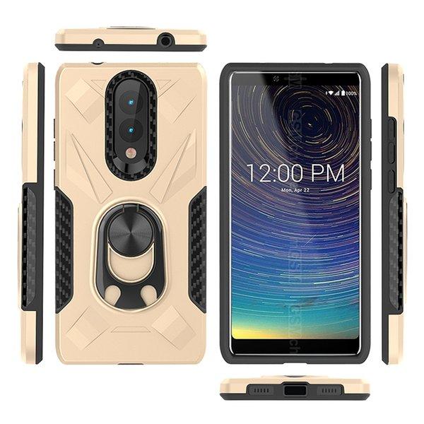 Custodia antiurto Admiral Ring Phone per Coolpad legacy per LG K40 Stylo 5 Samsung A10 A40 A80 TPU + Custodia per cellulare in metallo D
