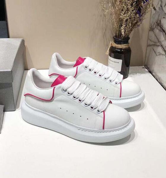 Scarpe da donna stilista di alta qualità 3M Scarpe casual in pelle bianca riflettente ragazza uomo sneakers piatte rosse oro nero 13