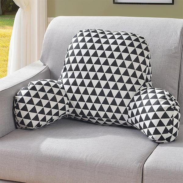 31 Kissen Rückenkissen mit Armlehne Bett Lesen Rest Taille Stuhl Autositz Sofa Rest Lendenkissen Baumwolle Leinen Plüsch